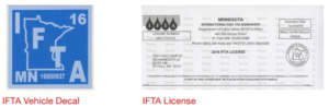 IFTA Vehicle Decal and License Image